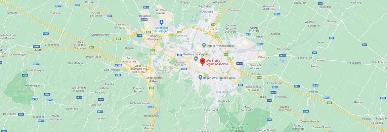 Mappa sede studio Legale LPO